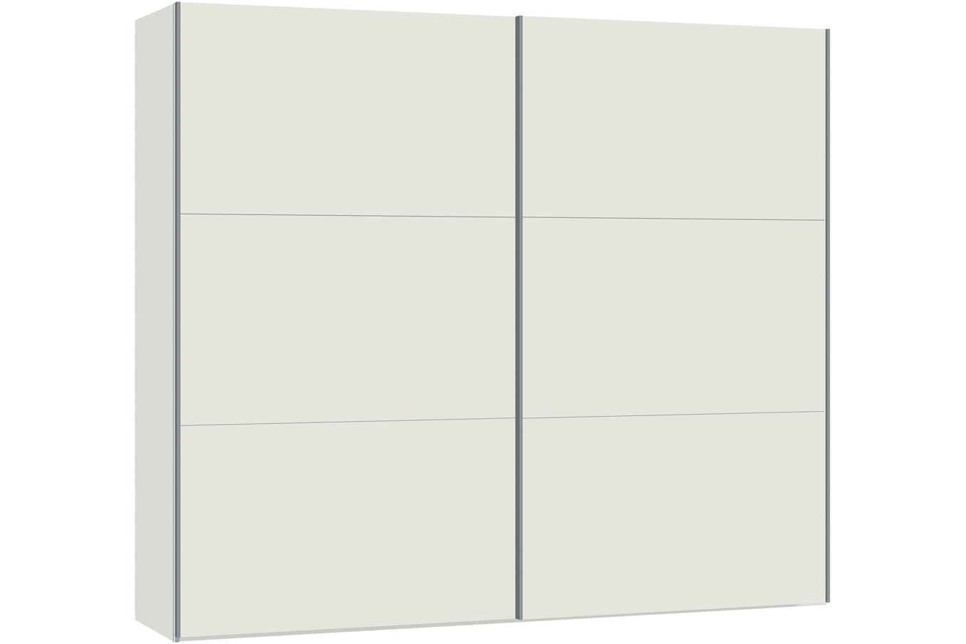 Emer Sliding Wardrobe 253Cm | White