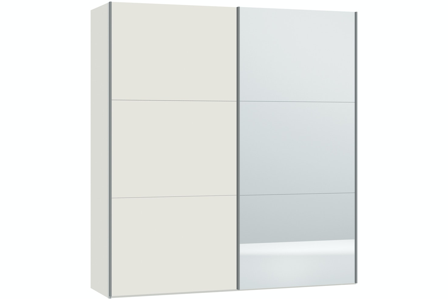 Emer Sliding Wardrobe 203Cm | White+Mirror