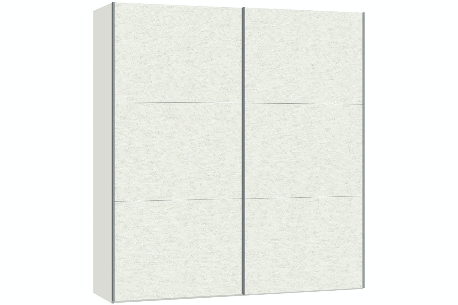 Julia Sliding Wardrobe 203Cm | White Ash