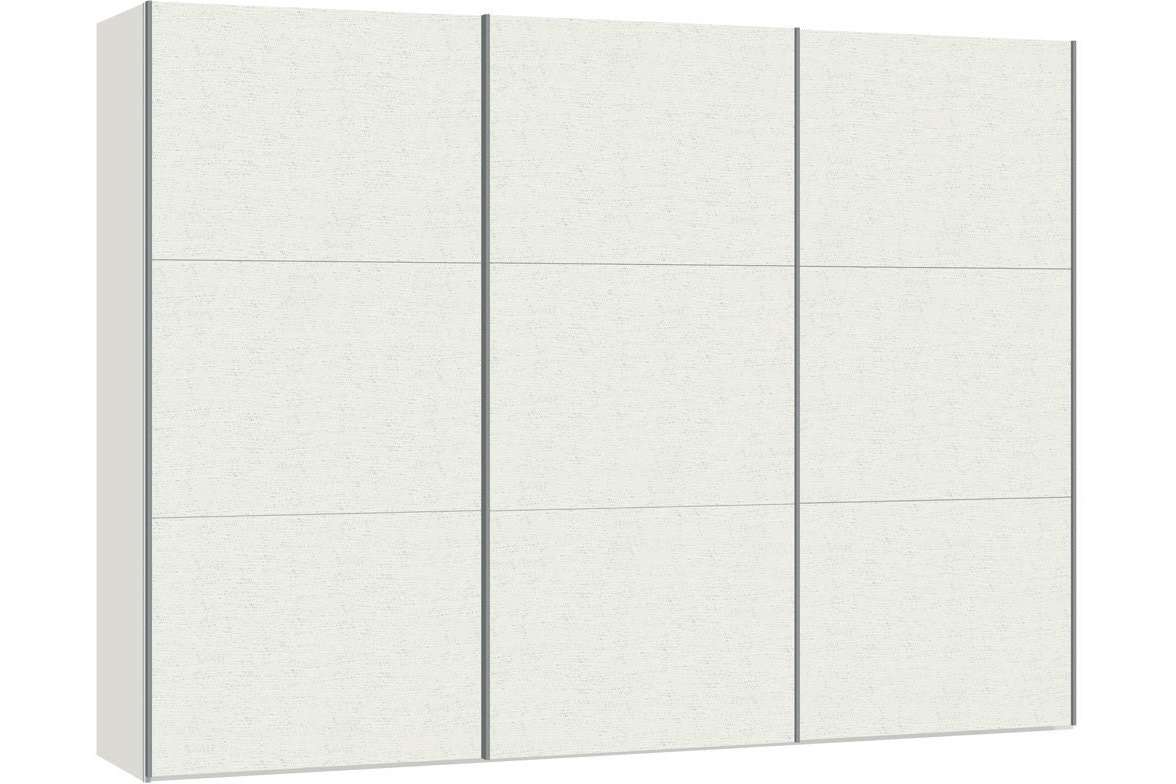 Julia Sliding Wardrobe 303Cm | White Ash
