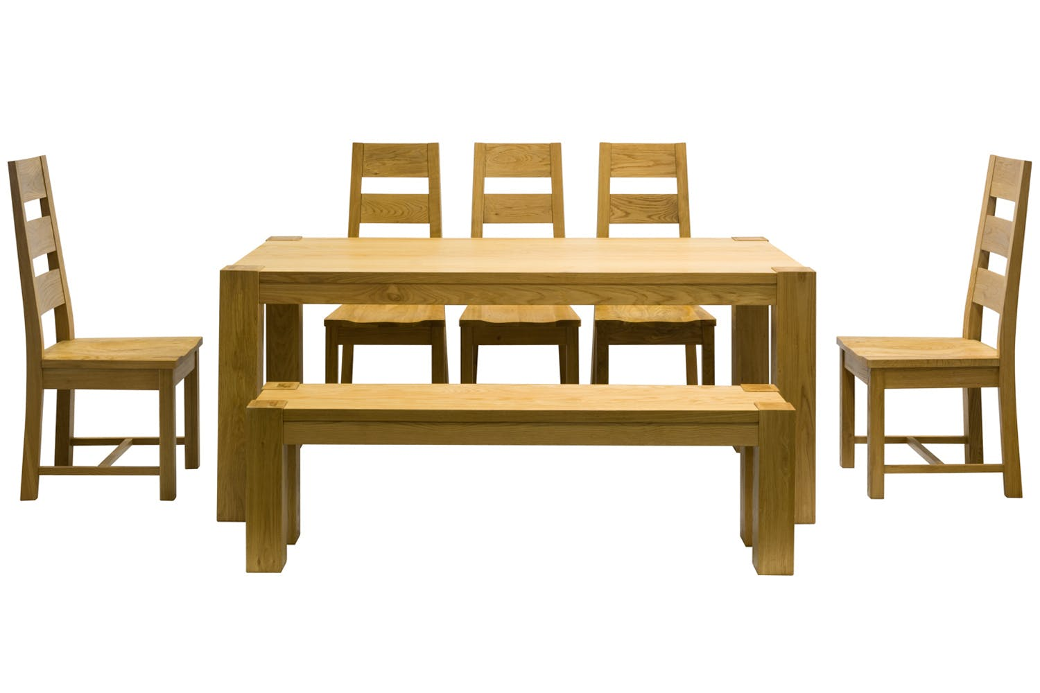 Quercus 7-Piece Dining Set | Quercus Chair & Bench