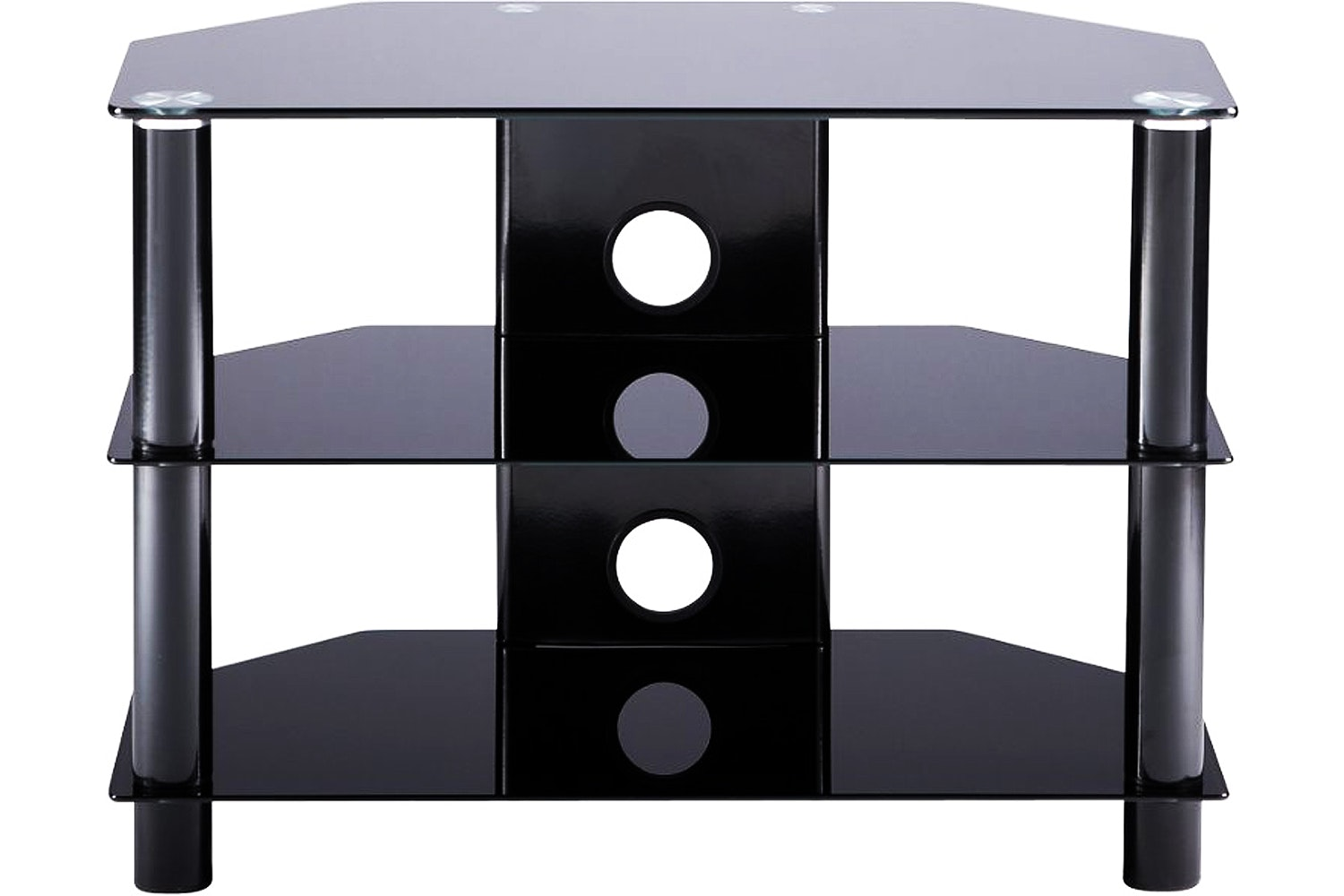 Alphason Essentials 3 Tier TV Stand | ESS8003BLK