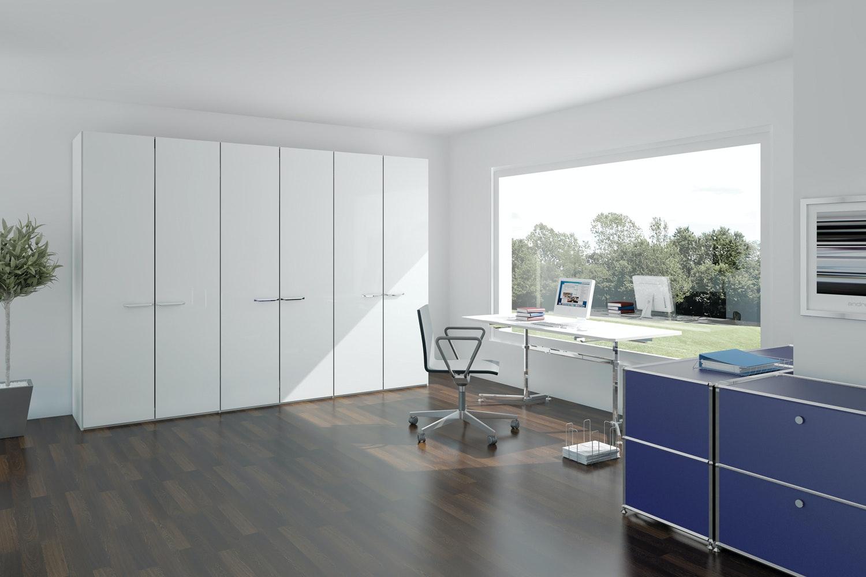 Zoe Hinged 2 Door Wardrobe 102Cm | White Glass