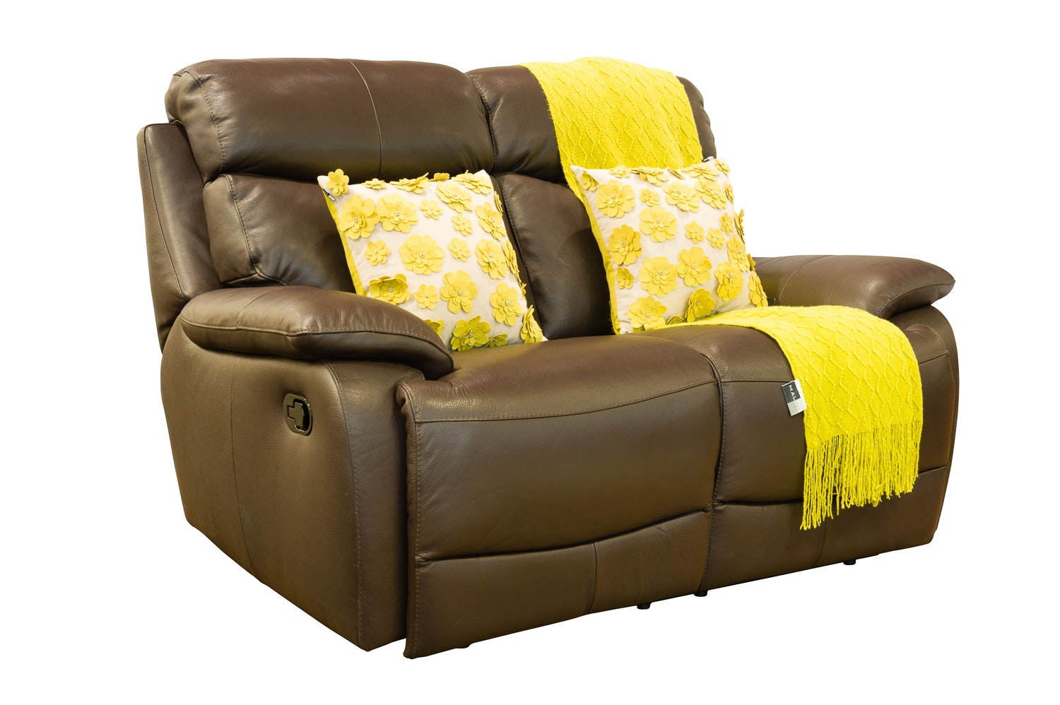 Seline 2-Seater Leather Recliner Sofa