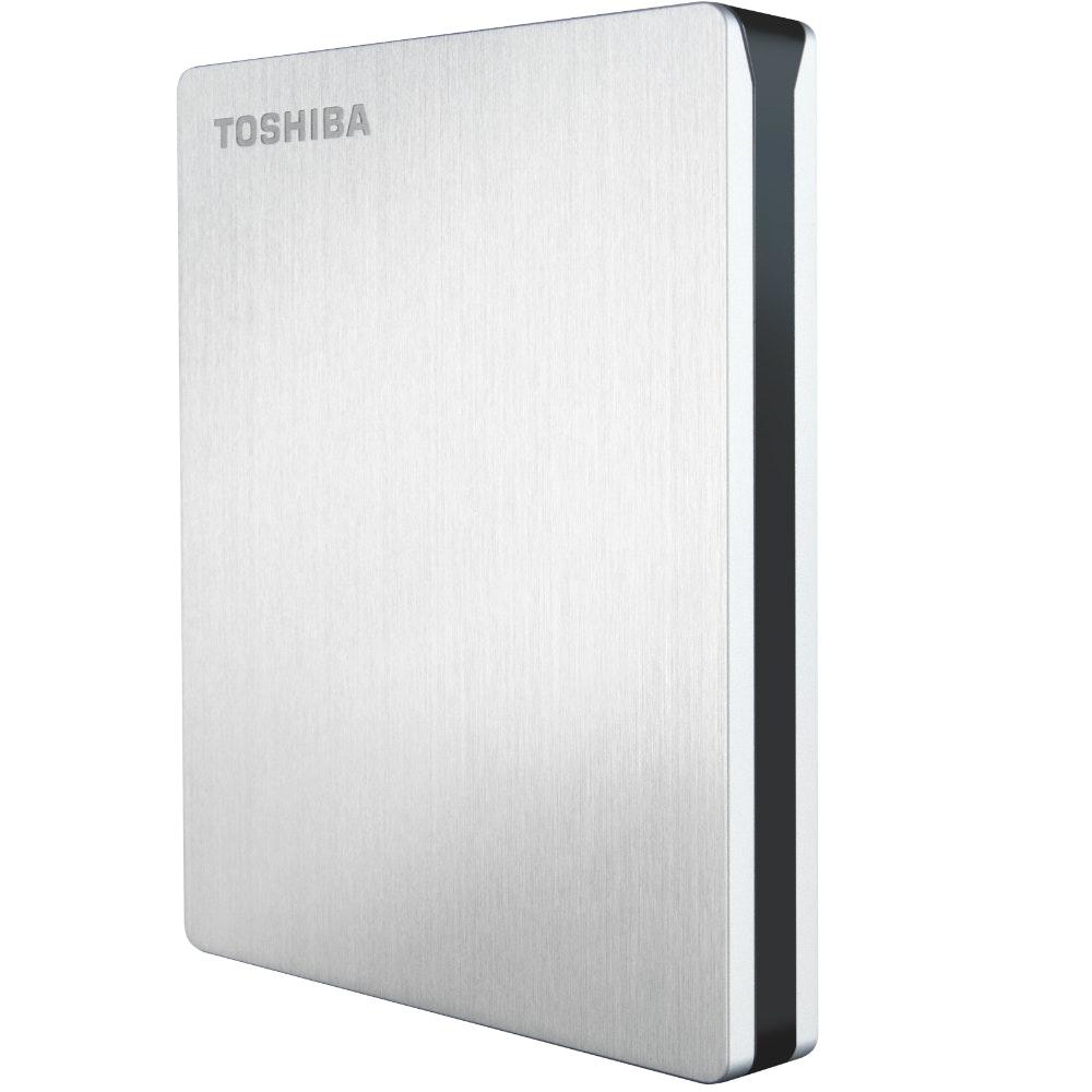 Toshiba Canvio Slim Portable Mac Hard Drive | Silver
