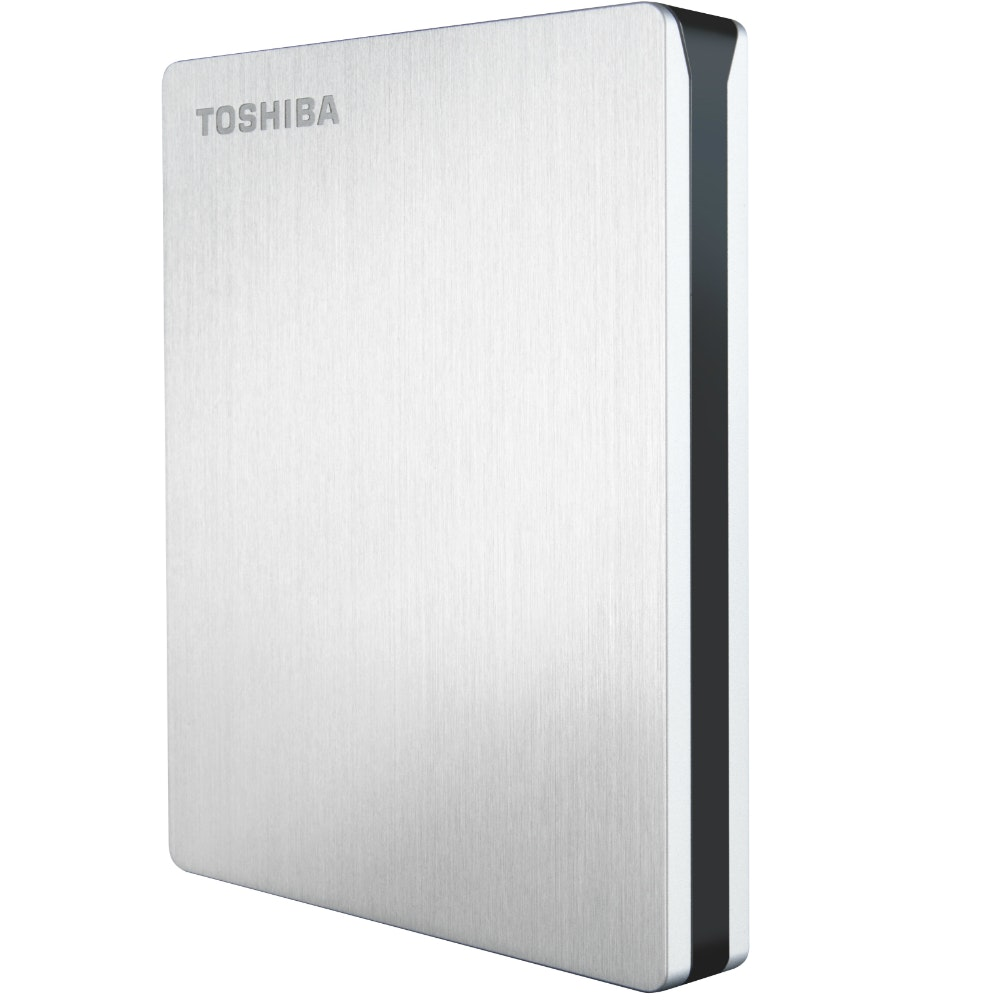 Toshiba Canvio Slim Portable Mac Hard Drive | Silver