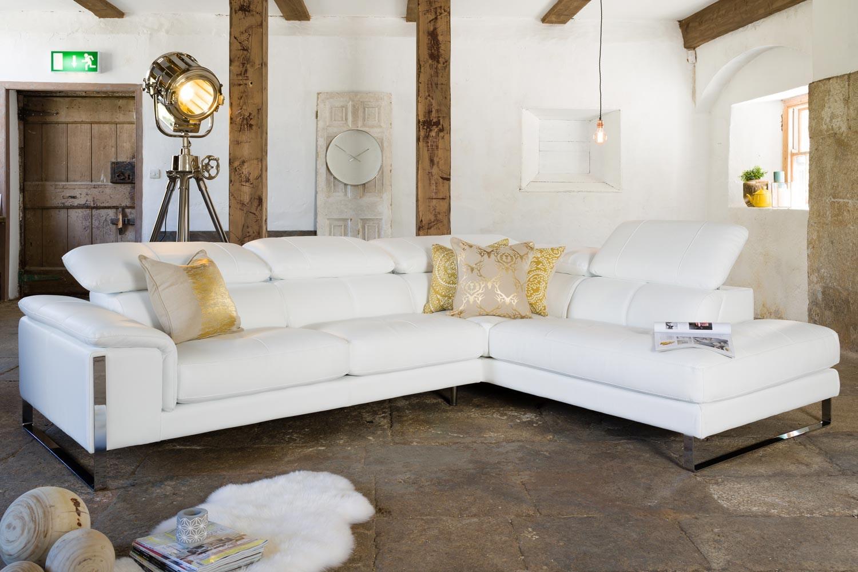 Valente Leather Corner Sofa