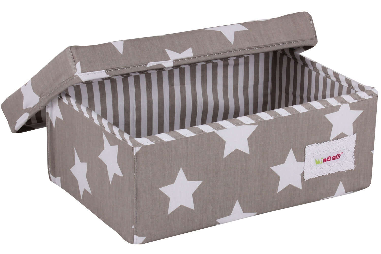 Minene Small Storage Box | Taupe Star