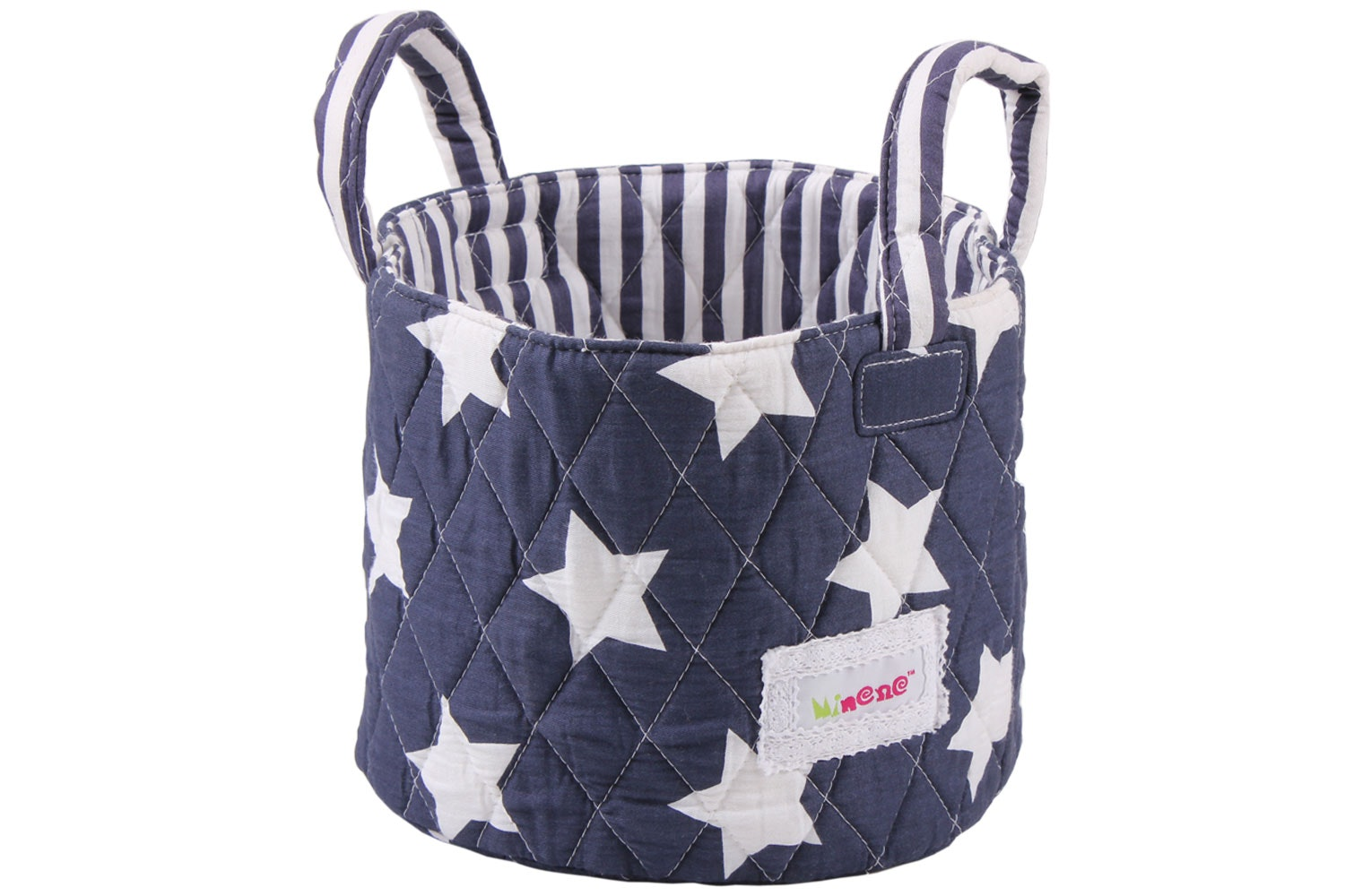 Minene Small Storage Basket | Navy Star