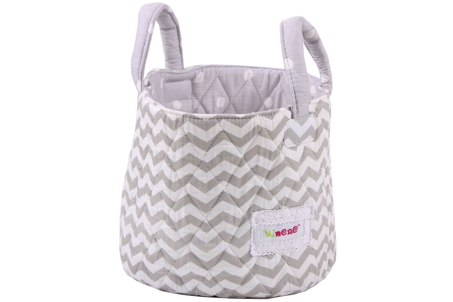 Minene Small Storage Basket | Chevron