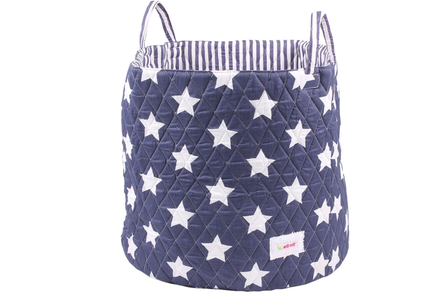 Minene Large Storage Basket | Navy Star