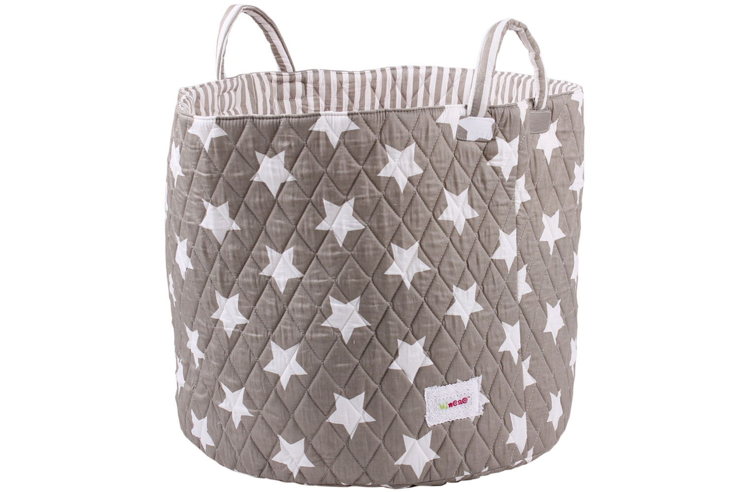 Minene Large Storage Basket | Taupe Star