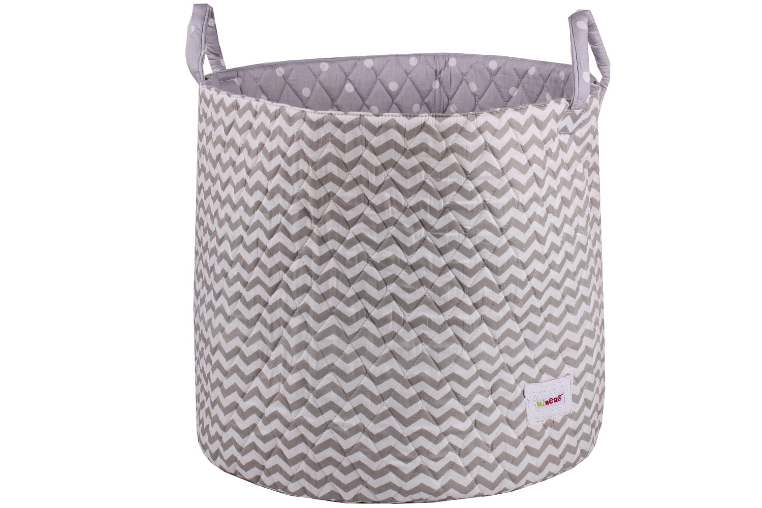 Minene Large Storage Basket | Taupe Chevron