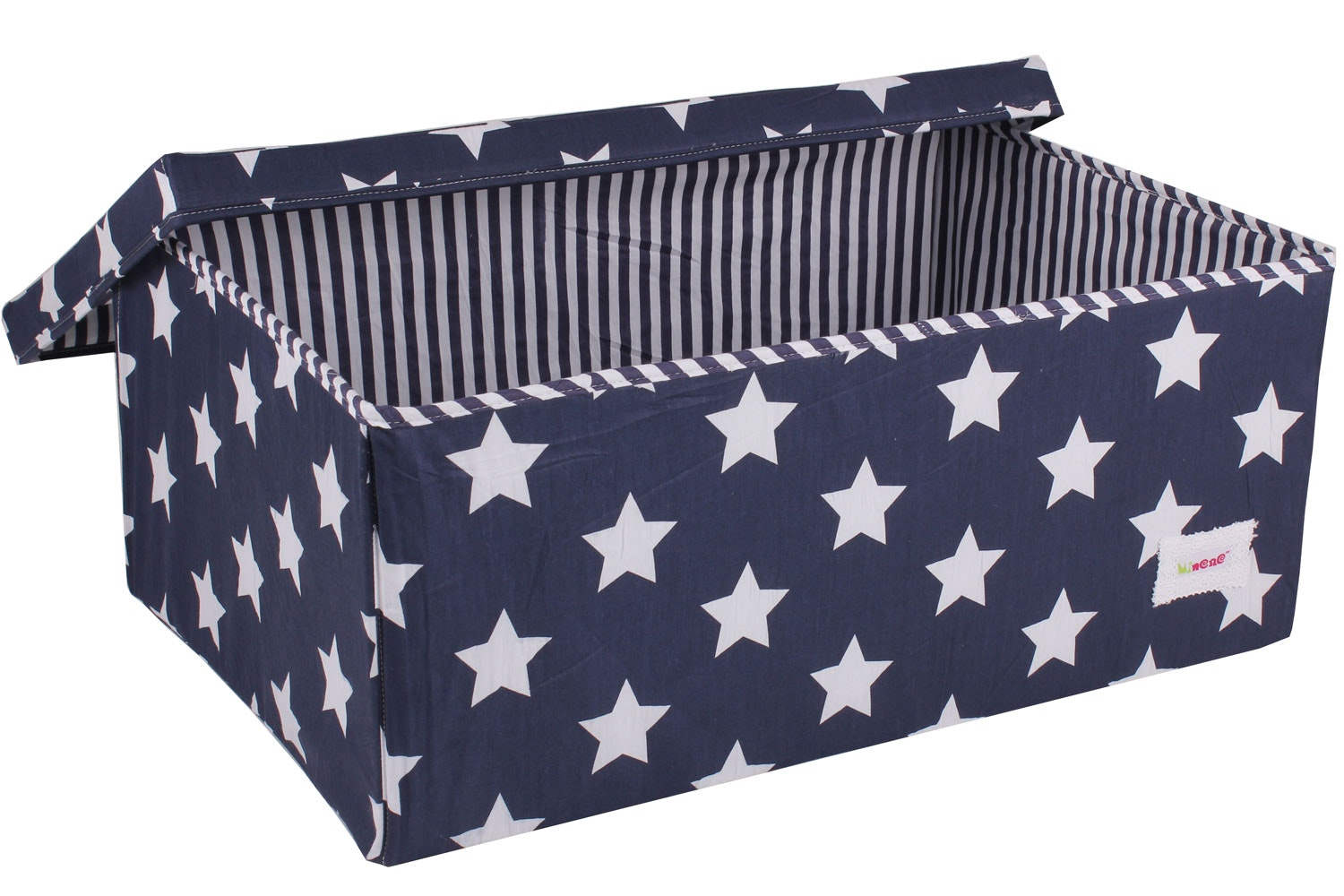 Minene Large Storage Box | Navy Star