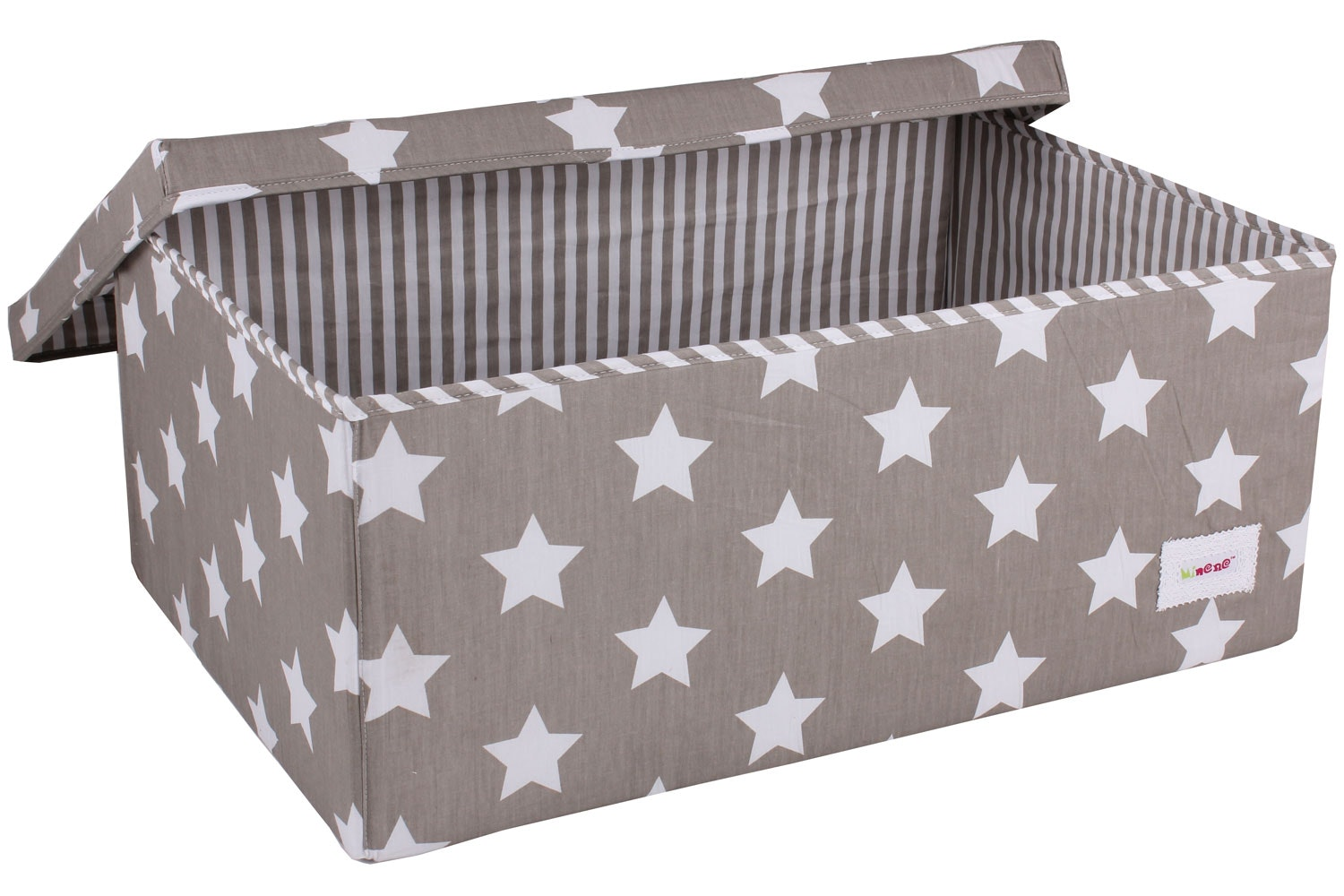 Minene Large Storage Box | Taupe Star