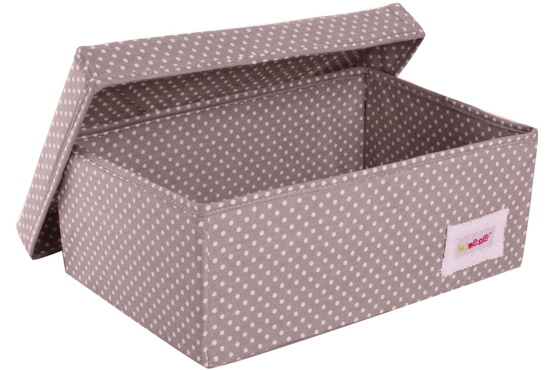 Minene Small Storage Box | Taupe Polka
