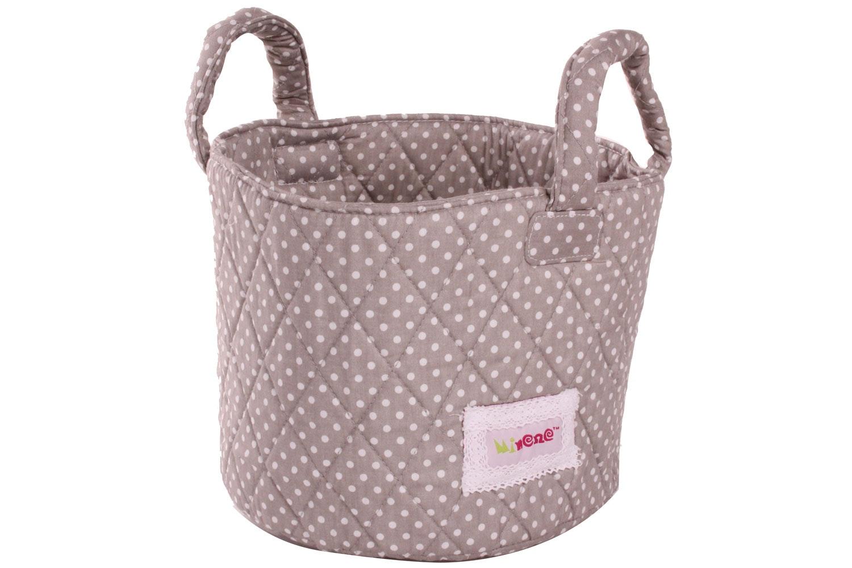 Minene Small Storage Basket | Taupe Polka
