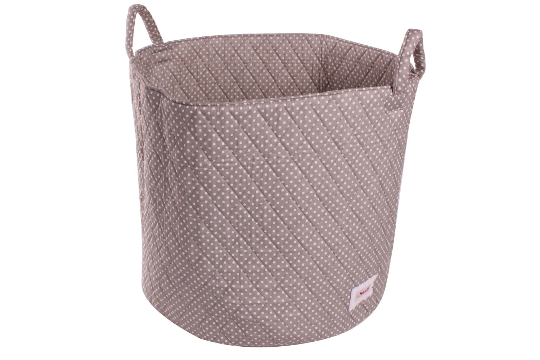 Minene Large Storage Basket | Taupe Polka