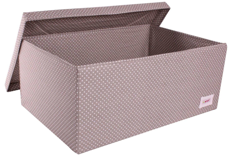 Minene Large Storage Box | Taupe Polka