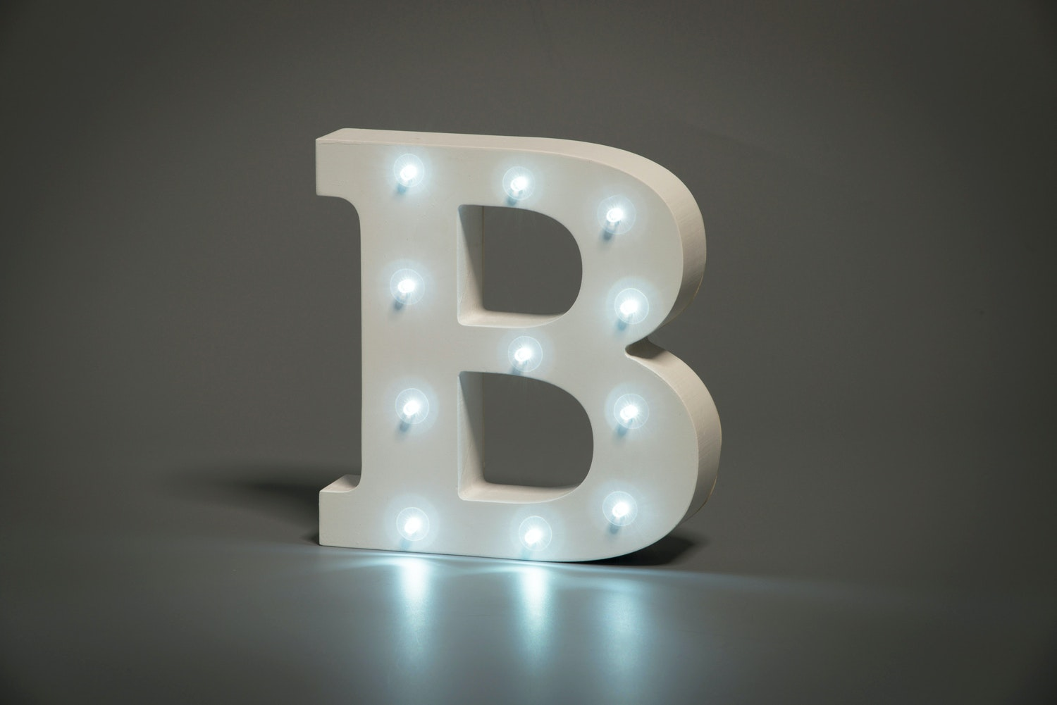 Up In Lights Illuminated Letter | B