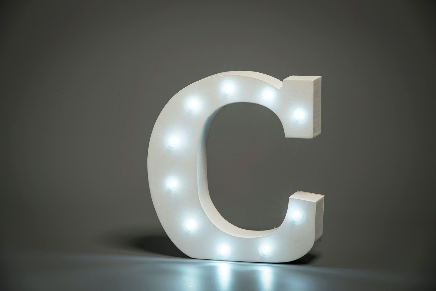 Up In Lights Illuminated Letter | C