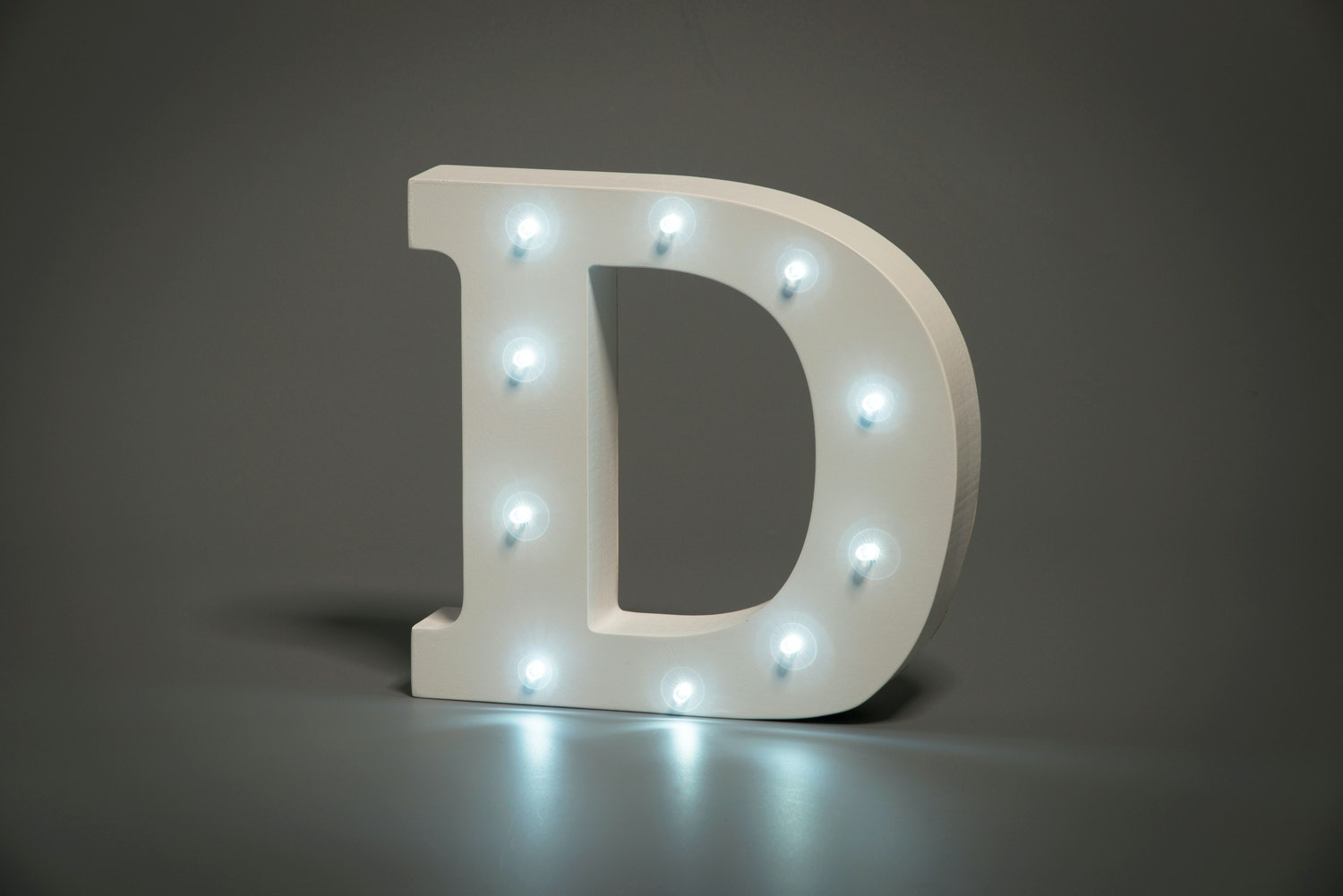 Up In Lights Illuminated Letter | D