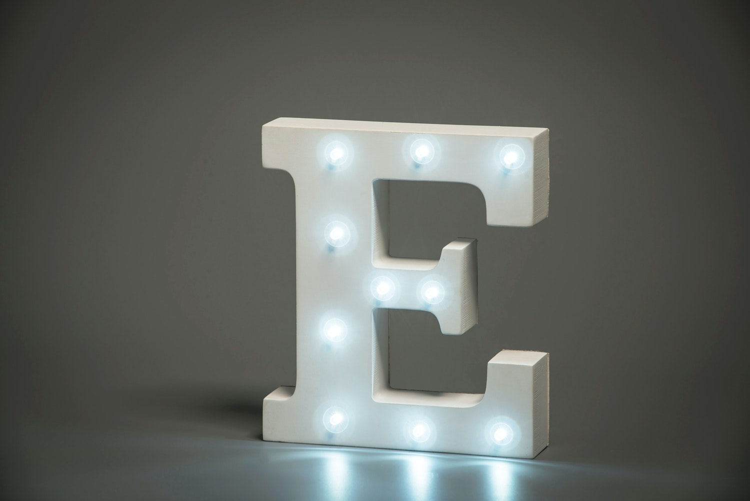 Up In Lights Illuminated Letter | E