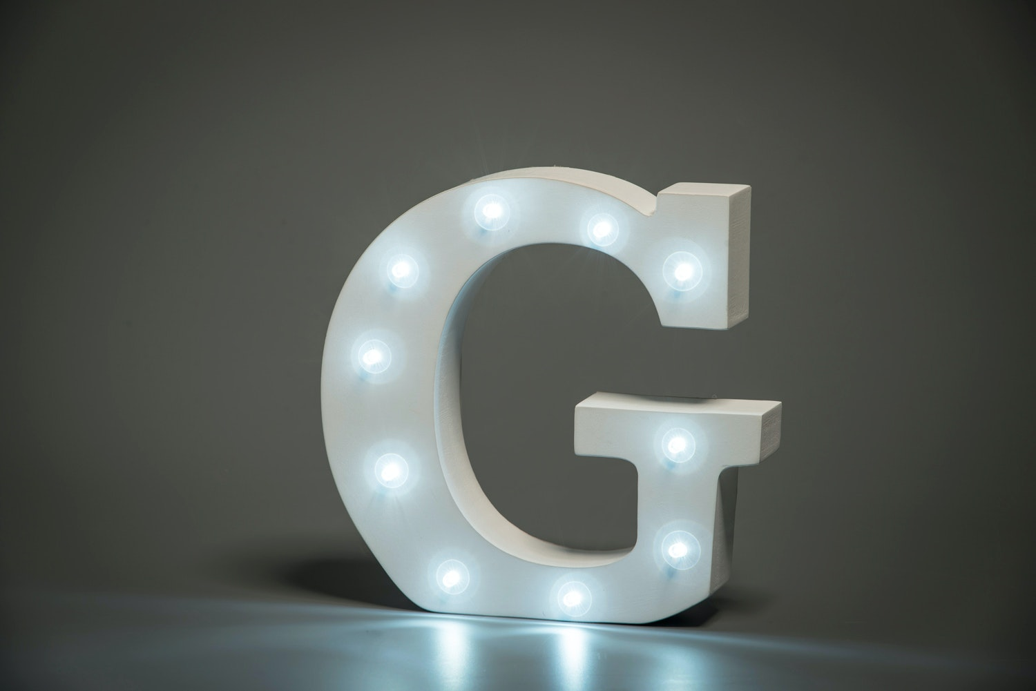 Up In Lights Illuminated Letter | G