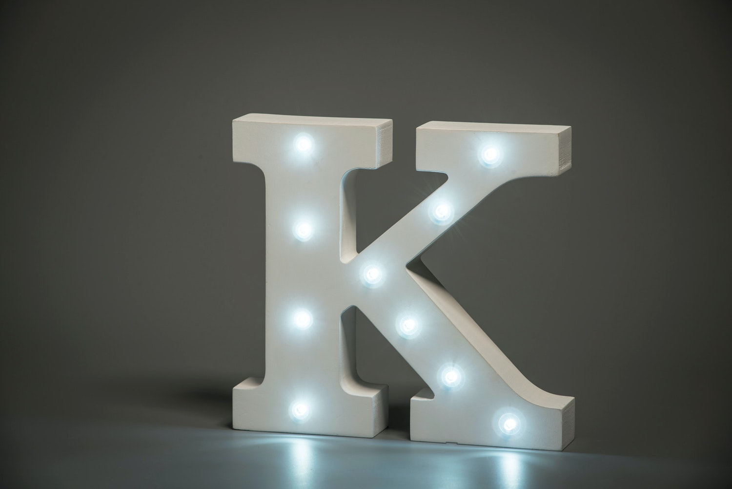 Up In Lights Illuminated Letter | K
