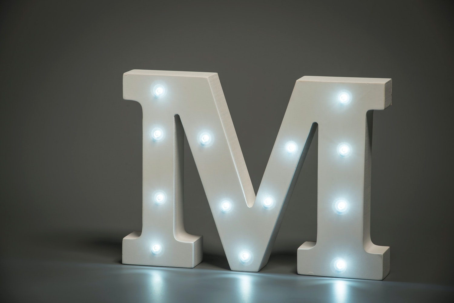 Up In Lights Illuminated Letter | M