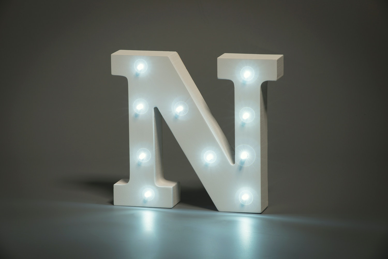 Up In Lights Illuminated Letter | N