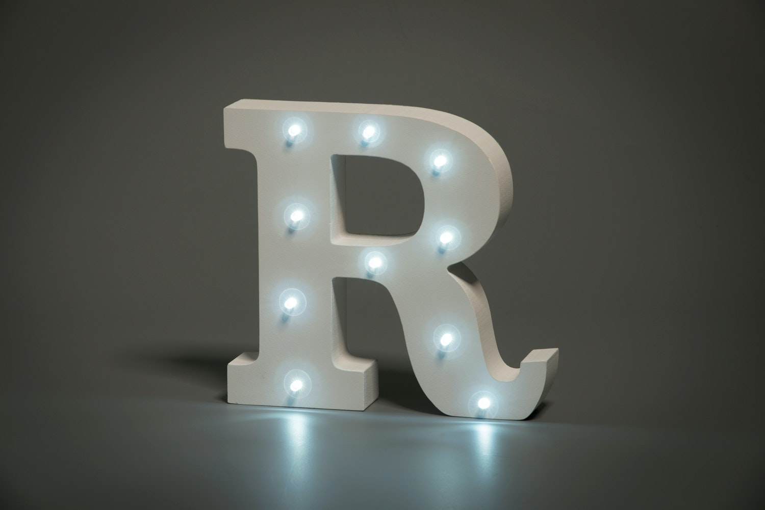 Up In Lights Illuminated Letter | R