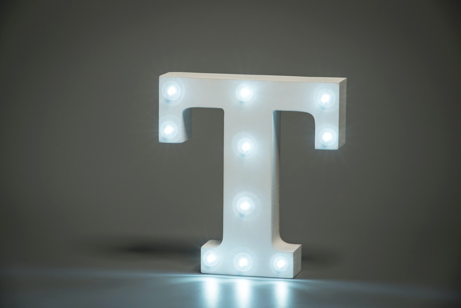 Up In Lights Illuminated Letter | T