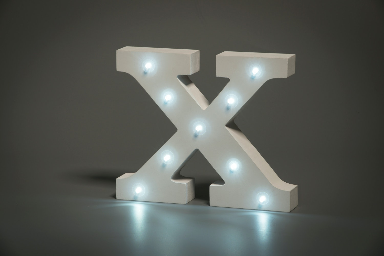 Illuminated letter X
