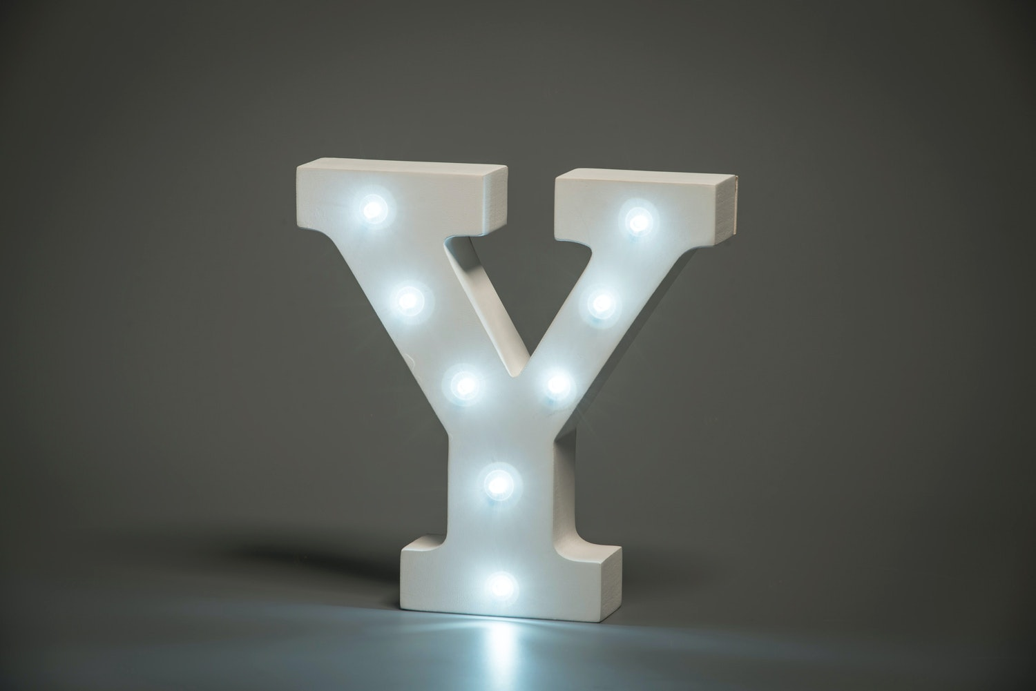 Up In Lights Illuminated Letter | Y