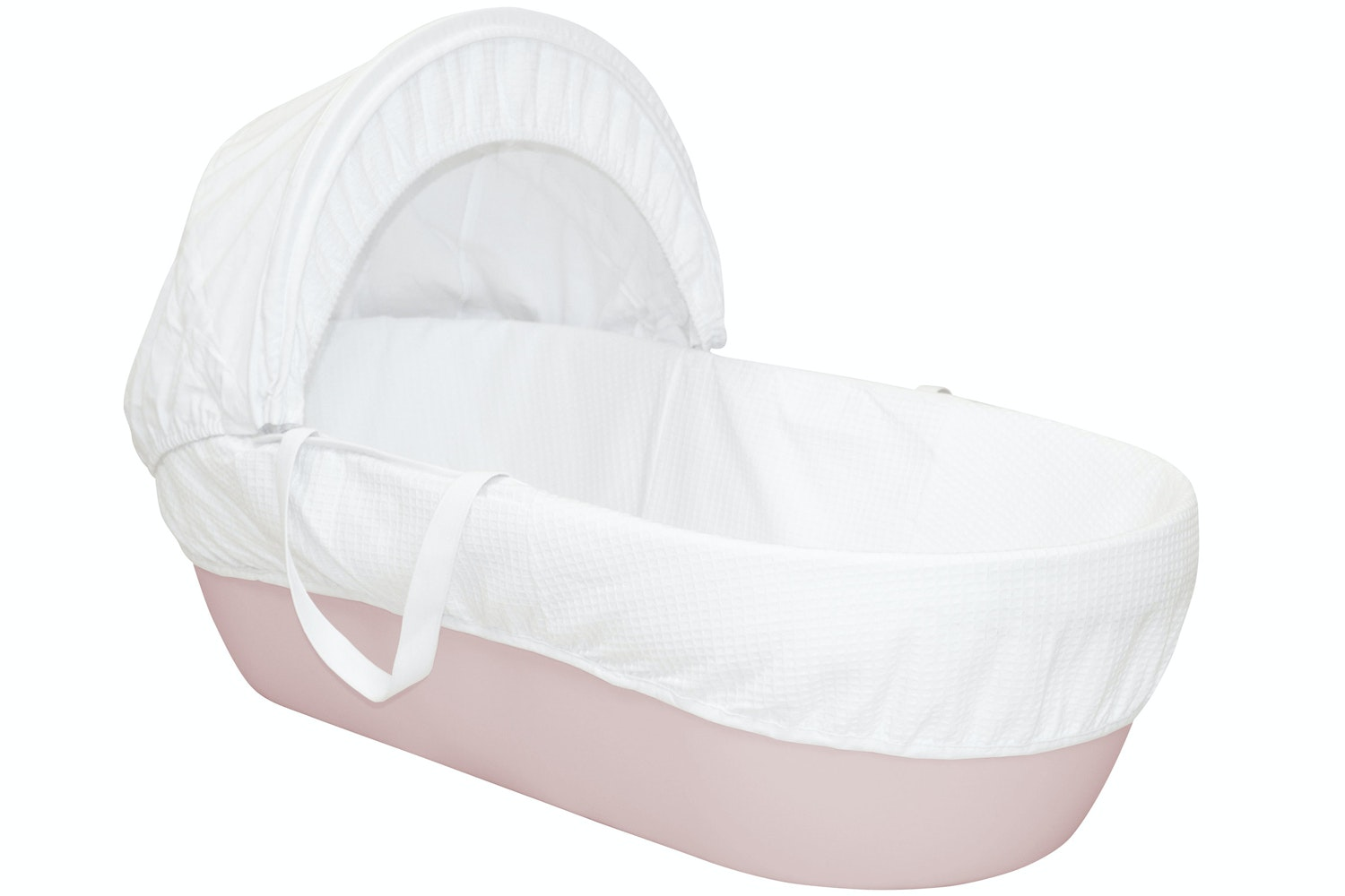Shnuggle Classic Moses Basket | Blossom Pink