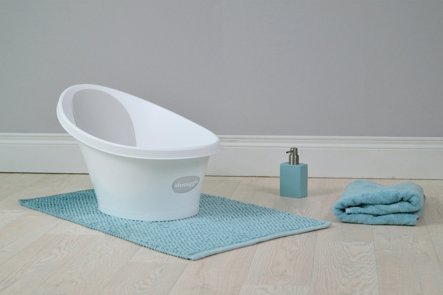 Shnuggle Bath | White & Grey