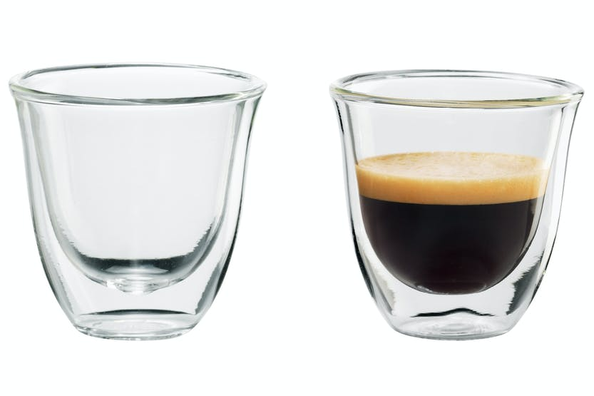 Delonghi 60ml Espresso Thermo Glasses | 2 Piece