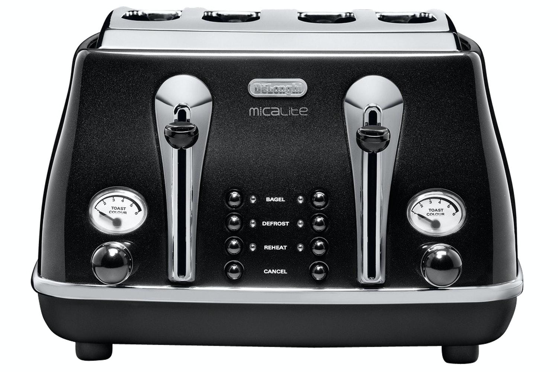 DeLonghi Micalite  4 Slice Toaster | Black