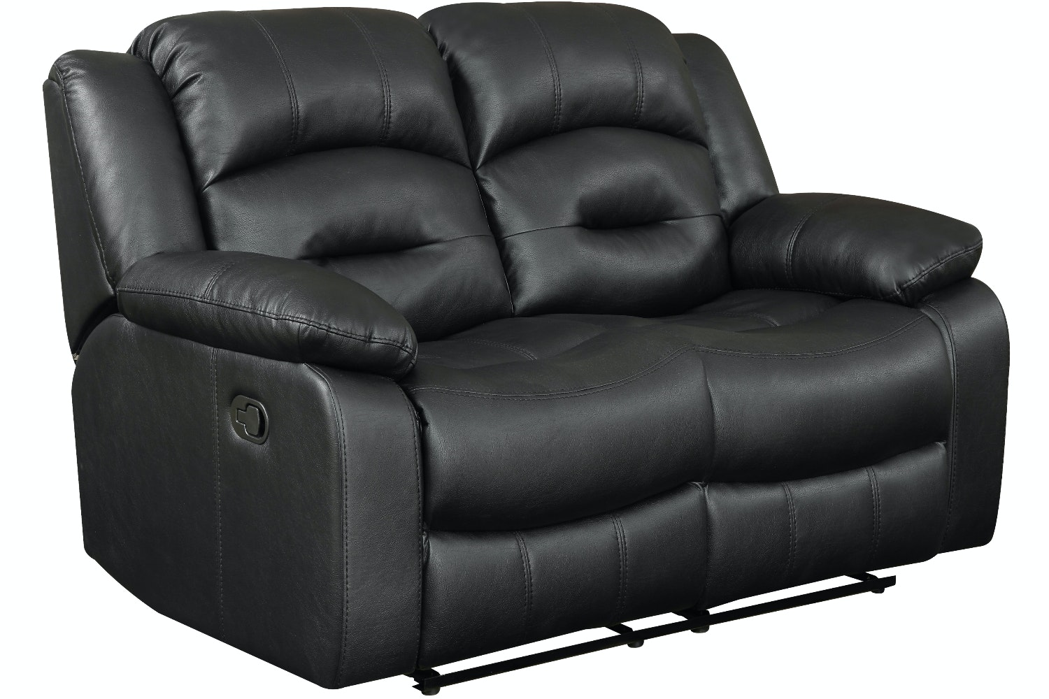 Hunter 2 Seater Recliner Sofa | Black