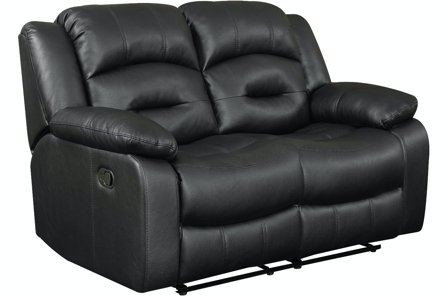 Hunter 2 Seater Recliner Sofa Black