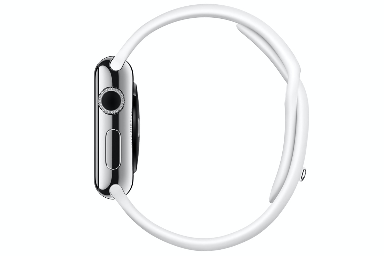 Apple Watch | 38mm Stainless Steel Case with White Sport Band