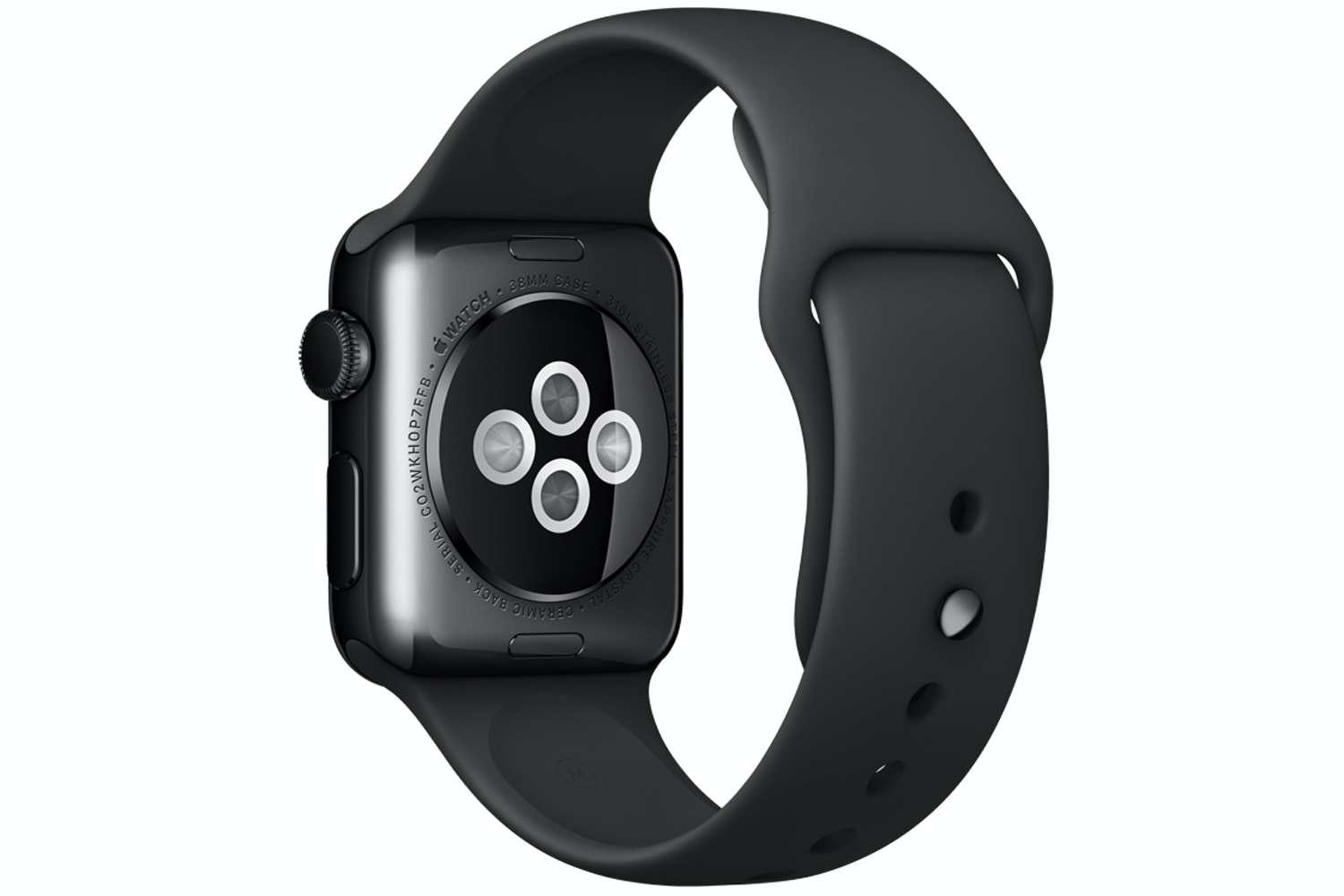 Apple Watch | 38mm Space Black Stainless Steel Case with Black Sport Band