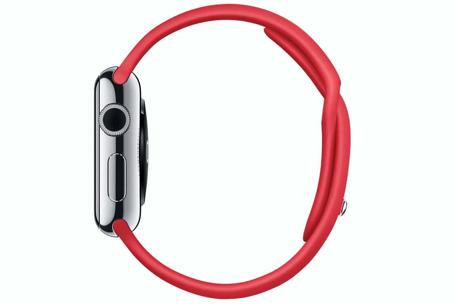 Apple Watch | 38mm Stainless Steel Case with (PRODUCT)RED Sport Band
