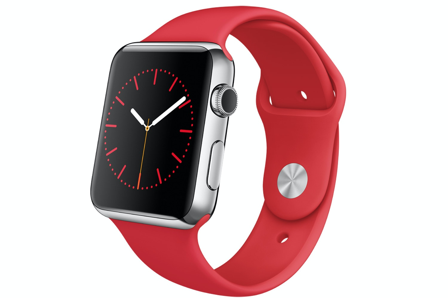 Apple Watch | 42mm Stainless Steel Case with (PRODUCT)RED Sport Band