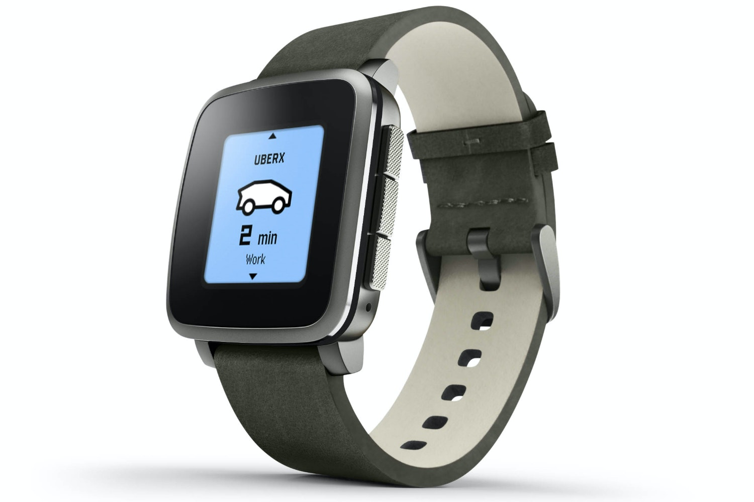 Pebble smart watch Black Strap