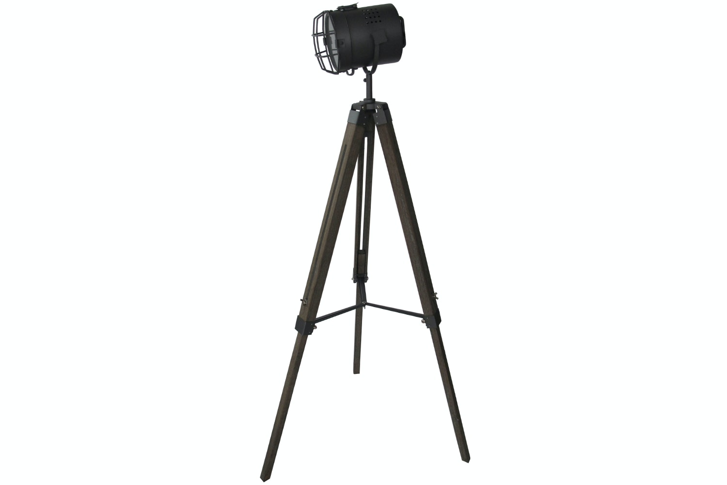Large Silver Tripod Floor Lamp with Mesh Head