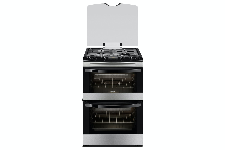 Zanussi 60cm Gas Cooker | ZCG63200XA | Stainless Steel