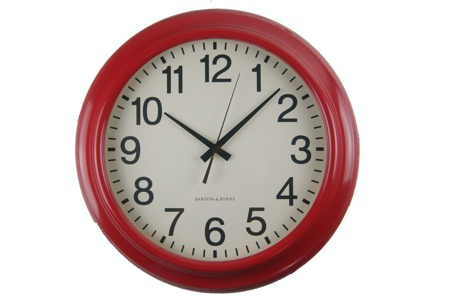 "18"" Red Metal Wall Clock"