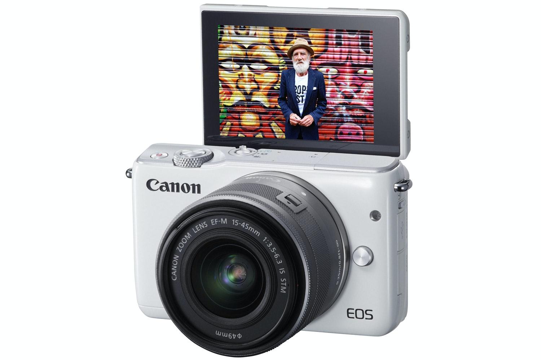 Canon EOS M10 & 15-45mm EF-M Lens | White